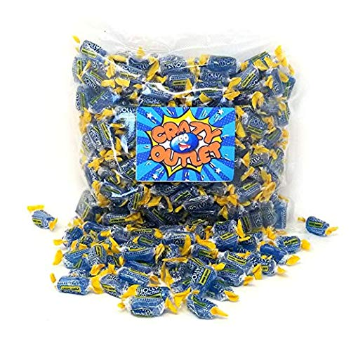 CrazyOutlet Pack - Jolly Rancher Blue Raspberry Hard Candy, Individually Wrapped Bulk Fat-Free Classic Candy, 2 lbs]()