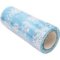 SUPVOX Rollo de Tul de Navidad con Copo