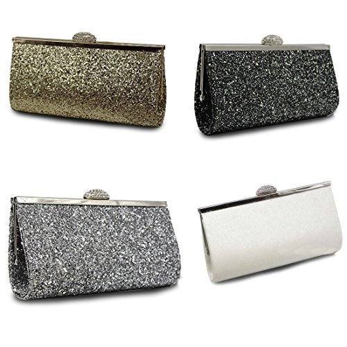 verus pour Colors bag Pochette femme Unique Rose Taille glitter clutch Five rSqUwraH