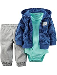 Carter's Baby Boys' 3 Piece Cardigan Set (18 Months, Beach Patrol)
