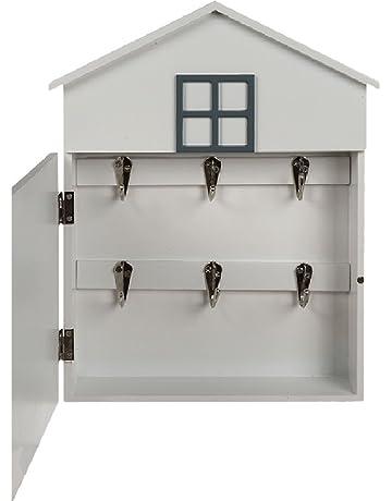 Caja para llaves de pared, con forma de casa, retro, con mensaje I