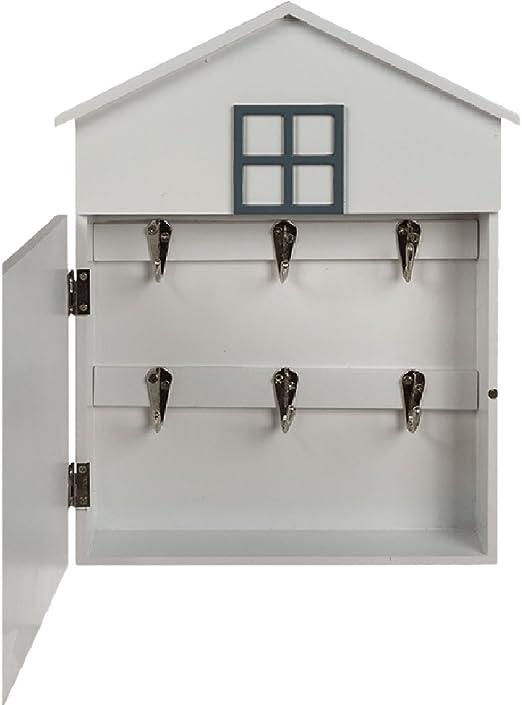 Caja para llaves de pared, con forma de casa, retro, con mensaje I ...