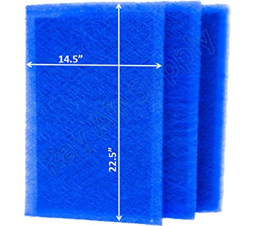 Carbon Filters Electrostatic (RAYAIR SUPPLY 16x25 Dynamic Air Cleaner Replacement Filter Pads 16X25 Refills (3 Pack))