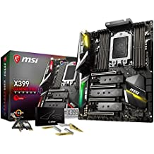 MSI Gaming AMD Ryzen ThreadRipper DDR4 VR Ready HDMI USB 3 SLI CFX Extended-ATX Motherboard (X399 GAMING PRO CARBON AC)