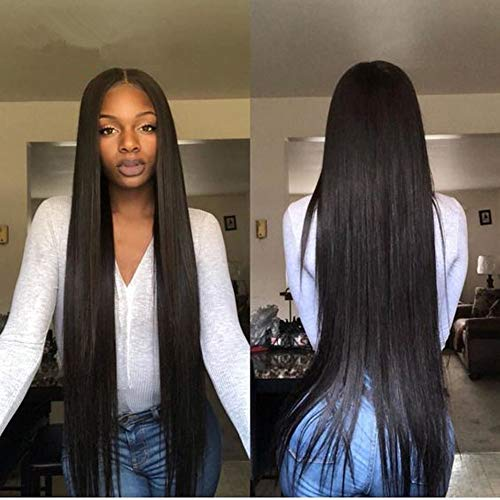 Middle Part Lace Front wig pre plucked Human Hair Lace Frontal Wigs with Baby Hair. Brazilian Straight Hair Wigs for Black women 130% Density HCDIVA (22 inch Middle Part) from HCDIVA