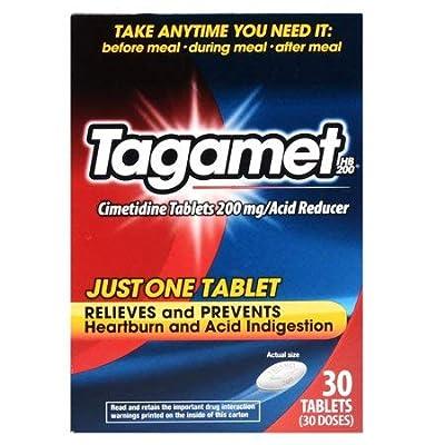 Tagamet HB 200 Acid Reducer | Cimetidine Tablets 200mg | 30-Tables per Pack | 1-Pack by Tagamet
