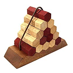 Brain Games Beehive Pyramid Wooden Puzzle