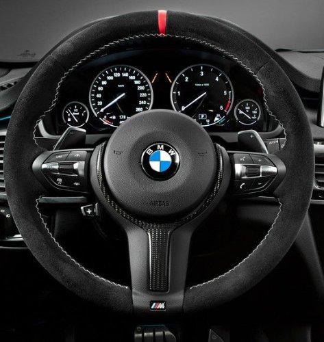 EuroActive BMW Brand OEM F15 X5 2014+ M Performance Alcanatara & Carbon Steering Wheel II