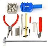 16Pcs Watch Back Opener Repair Tool Kit Band Pin Strap Link Remover