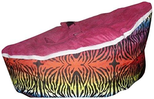 Babybooper Baby Beanbag, Pink/Black Zebra Stripe 00055
