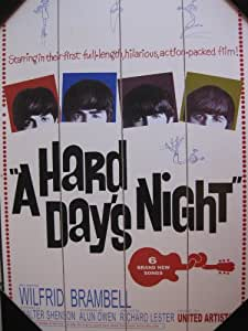 "Beatles ""A Hard Days Night"" Radio Days Authentic Artwork Placard Plaque 19"" x 13"""