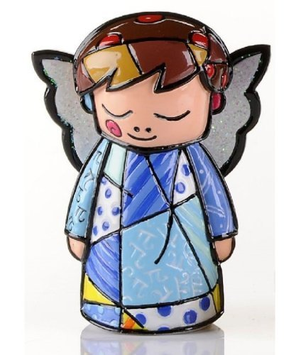Gift Craft Romero Britto Miniature Blue Angel Pop Art Figurine Collectible 331848 Mini New ()