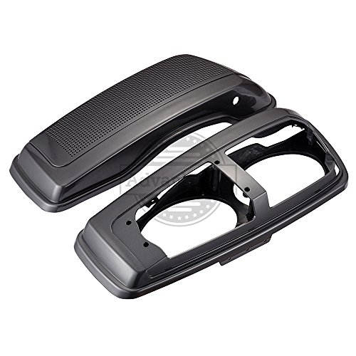(Advanblack Olive Gold Dual 6x9 Saddlebag Speaker Lids Fit for 2014+ Harley Davidson Hard Saddlebags Advanblack Stretched Bags)