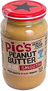 Pic's Really Good, Smooth Peanut Butter, No Salt, 13.4 Ounce