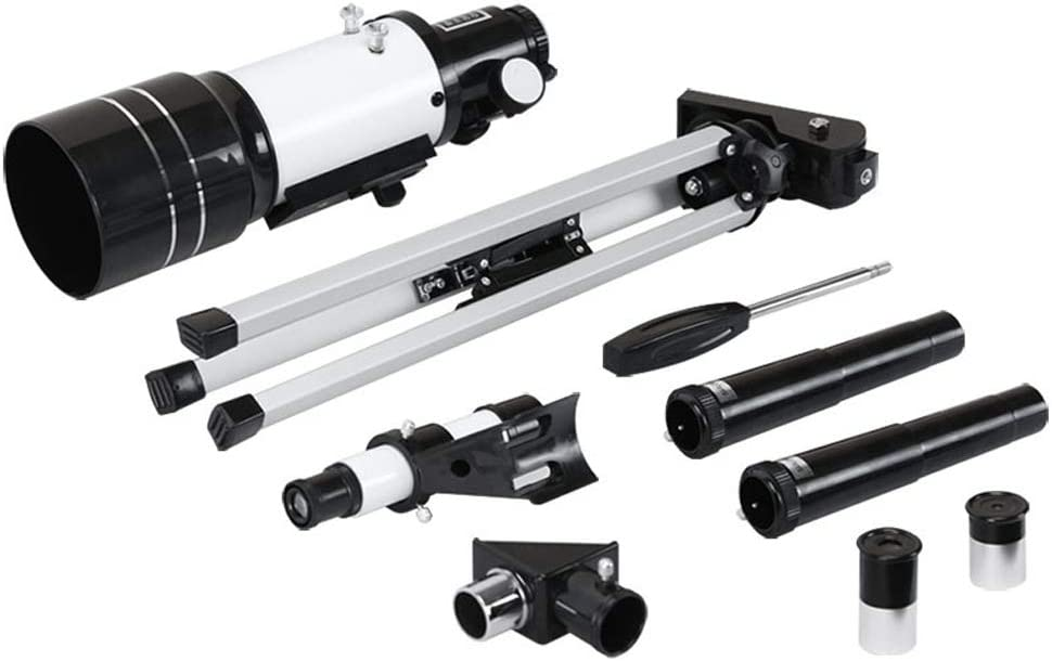 LFFCC 70//300 Astronomical Refractor Telescope Good Partner to View Moon and Planet Fully Coated Glass Optics Tripod Erect-Image Finder Scope 2 Eye Pieces Telescope