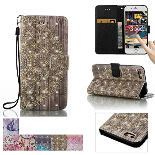 iPhone 6 Plus / 6S Plus Case, Firefish [Card Slots] [Kickstand] Flip Folio Wallet [3D Painting] Case Shell Scratch Resistant Protective Cover for Apple iPhone 6 Plus / 6S Plus (Zero Front Bumper)