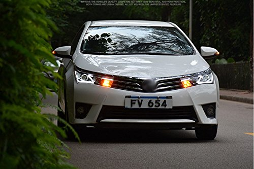 GOWE Car Styling for Toyota Corolla Headlights 2014-2016 Altis LED Headlight DRL Bi Xenon Lens High Low Beam Parking Fog Lamp Color Temperature:8000K;Wattage:35K 4