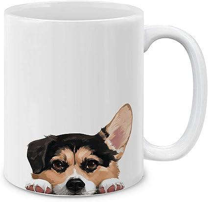 MUGBREW I Love My Tricolor Pembroke Welsh Corgi Dog Ceramic Coffee Gift Mug Tea Cup 11 OZ