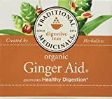 Traditional Medicinals Organic Ginger Aid Herbal Wrapped Tea Bags, 16 ct