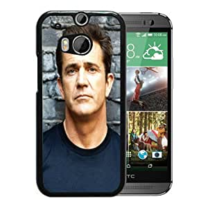 Newest And Fashionable HTC ONE M8 Case Designed With mel gibson man brunette eyes actor celebrity 27497 Black HTC ONE M8 Screen Cover High Quality Cover Case