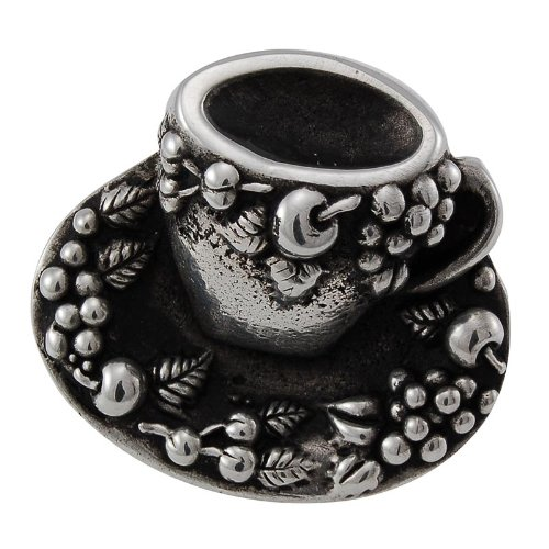 Antique Silver Vicenza Designs K1062 Cappuccino Cup Knob Large