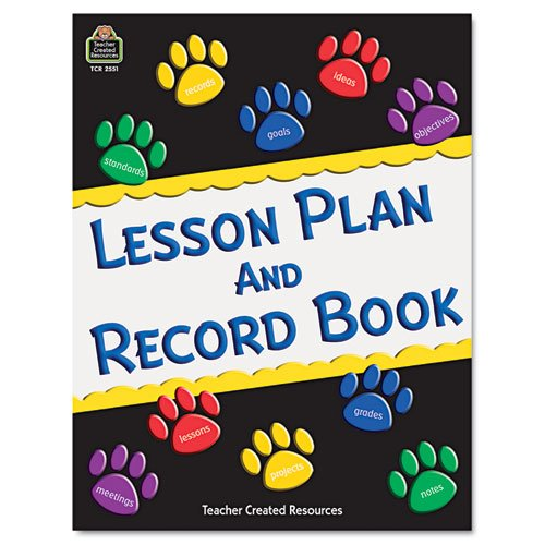 Teacher Created Resources Paw Prints Lesson Plan and Record Book