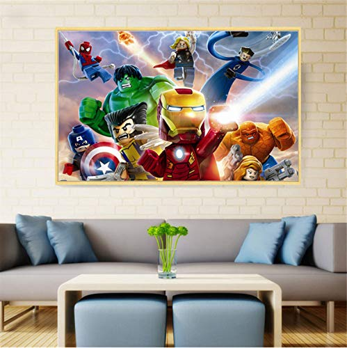 taoyuemaoyi Cartel Lindo Increíble Marvel Superhéroes Lienzo ...