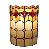 Amora Lighting AM090WL10 Tiffany Style 2-Light Geometric Wall Sconce