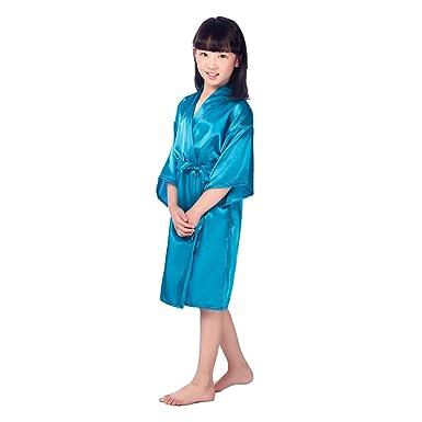 Prettycos Batas de seda de los ninos batas de bano batas de casa de seda Ropa de dormir Albornoz pijamas primavera: Amazon.es: Ropa y accesorios