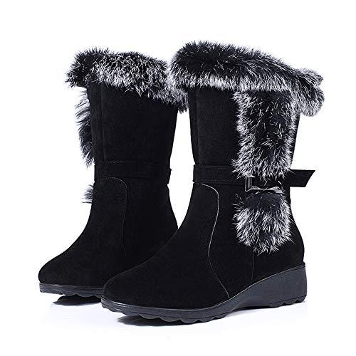 Stiefel Mode Baumwoll SAMT Plus Damenstiefel Keile In Fallen Rutschfeste Den Winter Damenstiefel Stiefel Und Stiefeln Schnee Verdickung Winter Black Wildleder Stiefel q4PxwU