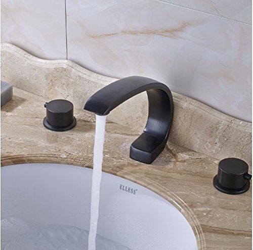 Gowe Best Design Best Quality High-end Spout with Two Handles WC Wash Basin Sink Faucet 4