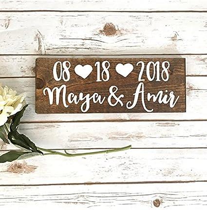 Ahorrar la fecha fotos para boda Decor de madera signo Ensayo cena decoración I Do barbacoa