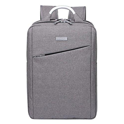 ACMEDE Laptop Rucksack Notebook-Rucksack Handtasche bis zu 15,6 Zoll Violett Grau