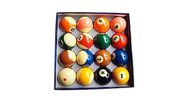 WXS Bolas de Billar, Resina 2 1/4 Pulgadas American Pool Spots and Stripes Balls Accesorios de Billar: Amazon.es: Deportes y aire libre