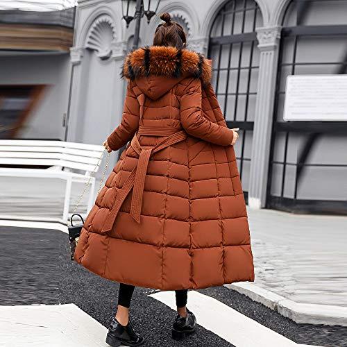 Piuma Invernali Impermeabile Caldo Giacca Cachi Giubbotto Cappuccio Piumino Lungo Addensare Outwear Homebaby Basamento Cappotto Cotone Leggero Imbottito Trincea Donna Elegante PXyZq