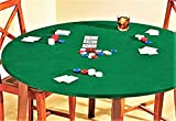 Reversible Fitted Card Table Or Round Elastic Edge Green Felt Tablecloth Fits 35'' to 44'' Round 36'' Square