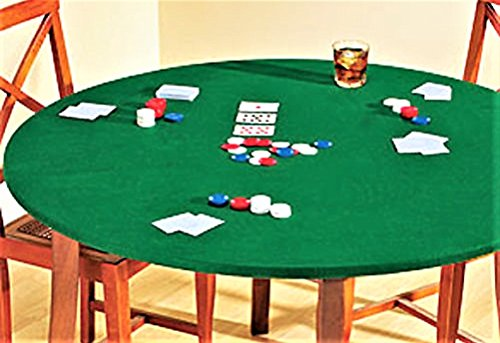 Table Felt Cloth (Reversible Fitted Card Table Or Round Elastic Edge Green Felt Tablecloth Fits 35