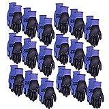MidWest Gloves & Gear : 94BLP18-LX-00 Max Grip 18pr Pack, Mens large, Blue