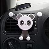 Iusun Car Phone Mount, Panda Car Air Vent Vehicle Mount Cradle Holder for iPhone Cell Phone Smartphone Mp3 Player GPS Samsung Galaxy J1/Note 9/Note 8 Moto E (A)