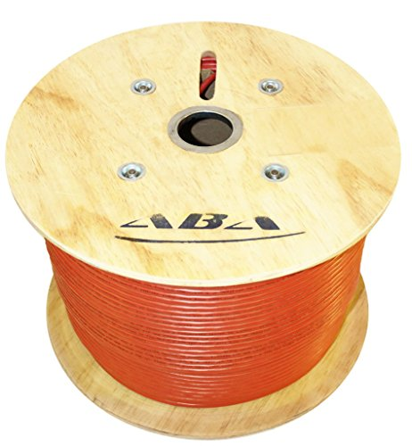 Infinity Cable CAT6A 10G CMP Shielded Solid Plenum FTP 100% Pure Copper, 1000 Feet, Bulk Cable Reel, Orange by Infinity Cable Products