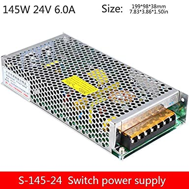 Output Voltage: 12V, Input Voltage: 110V Utini 145W Full Power Switching Power Supply Model S-145-24 24V//6A 12V12A 36V48V Single Group Output Industrial Power Supply