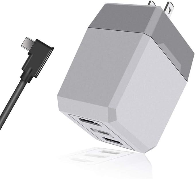 scorel Nintendo Switch ACアダプター ドック2in1急速充電器 5V 2.6A出力 テレビモート対応 ドック代用品