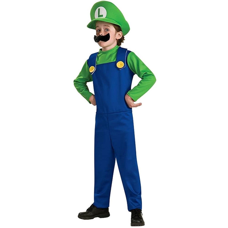 Amazon.com: Super Mario Bros. - Luigi Child Costume size Small 4-6 ...