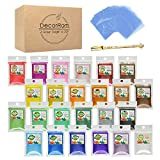 Mica Powder - 24 Color Soap Dye with 100 Shrink Wrap Bags, 1 Spoon - Skin Safe Soap Colorant Pigments for Soap...