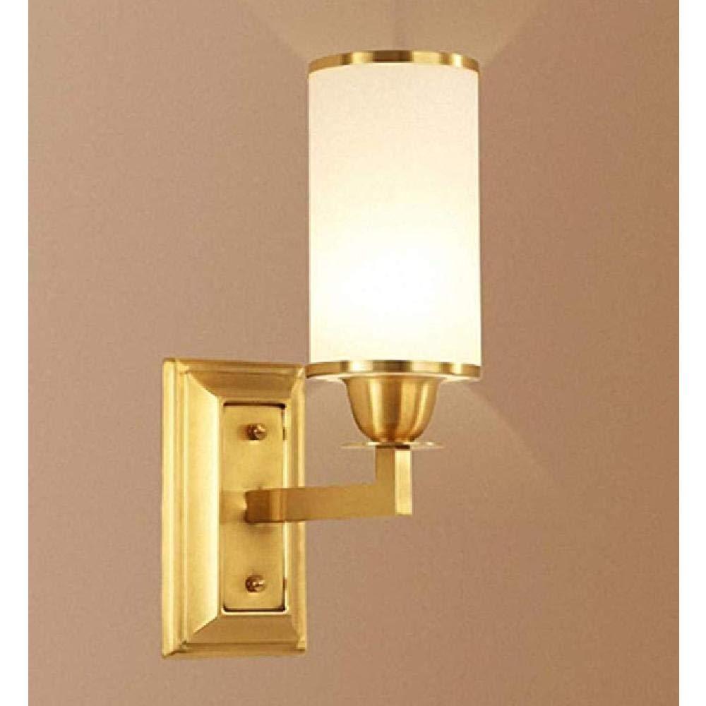 Kronleuchter Einfache Gold Kupfer Nachtwandleuchte Nordic Moderne Schlafzimmer Korridor Home Restaurant Dekoration E27