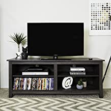 Walker Edison WE Furniture Wood TV Stand, 58-Inch, Charcoal