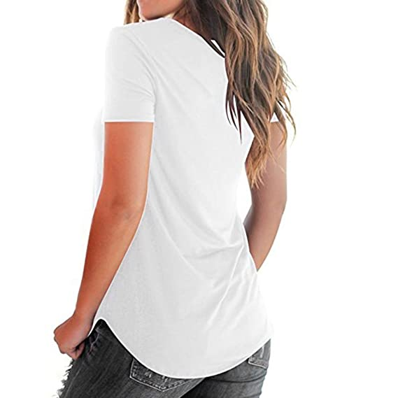 Yeamile💋💝 Camiseta de Mujer Tops Suelto Blusa Causal ...