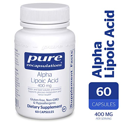 Pure Encapsulations - Alpha Lipoic Acid 400 mg - Hypoallergenic Water- and Lipid-Soluble Antioxidant Supplement - 60 Capsules