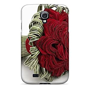Defender Case With Nice Appearance (a Bunch Of Rose) For Galaxy S4