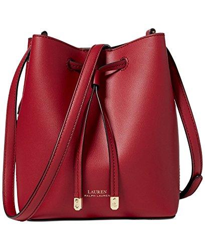 Lauren Ralph Lauren Debby II Mini Drawstring Bag (Crimson/Truffle)